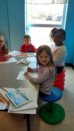 Mrs. Crystal Young`s class using active seating.