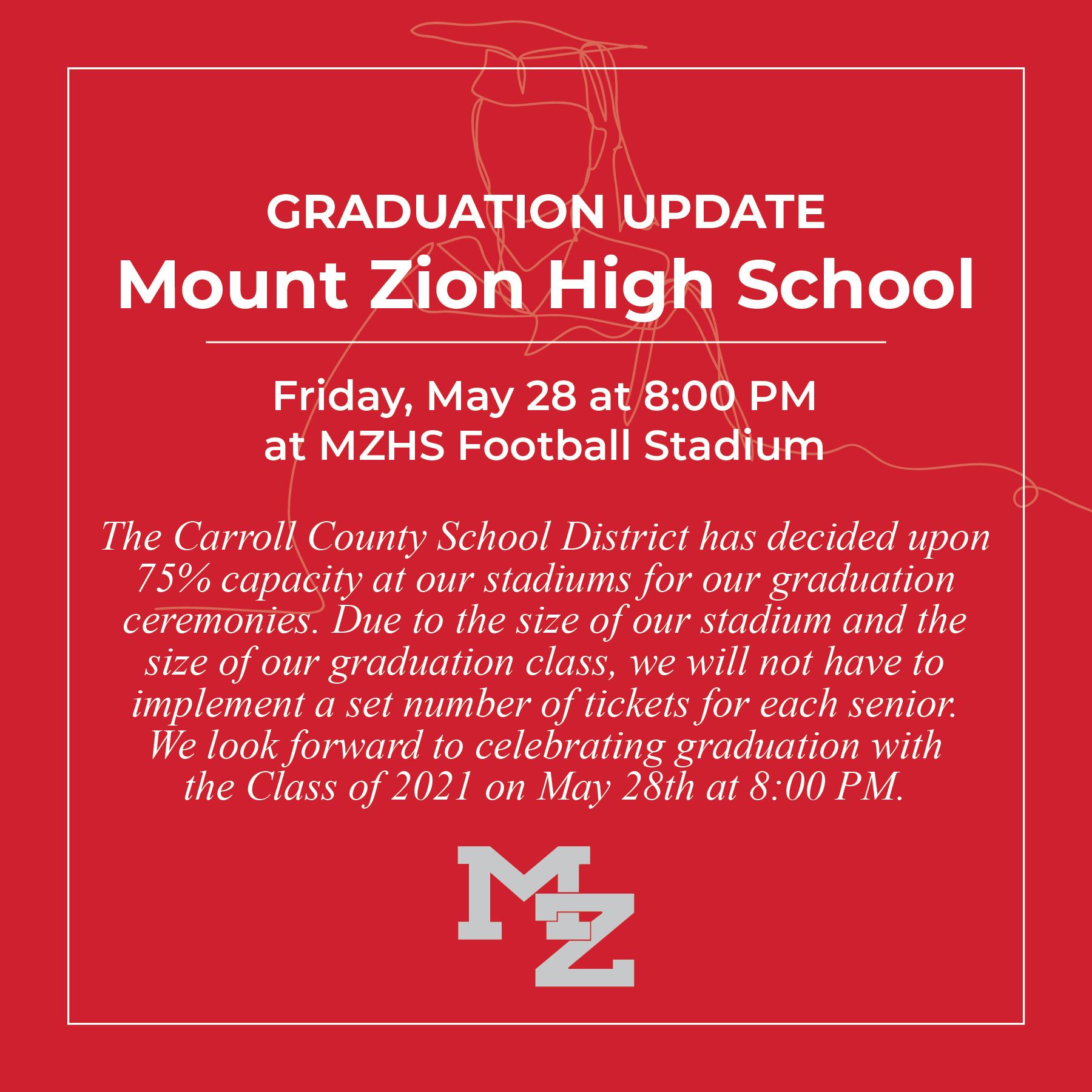 MZHS graduation announcement