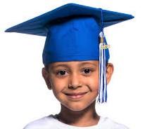 Child in graduation cap