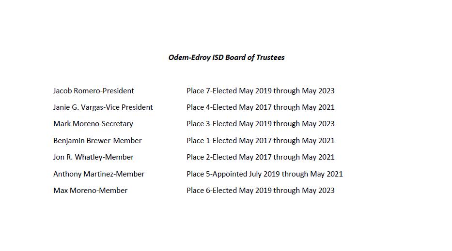 OEISD Board Election Information