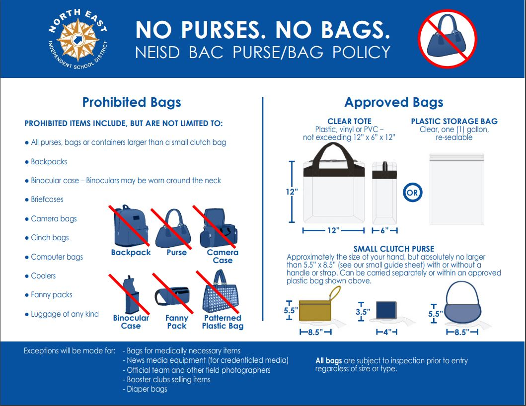NEISD ClearBag policy