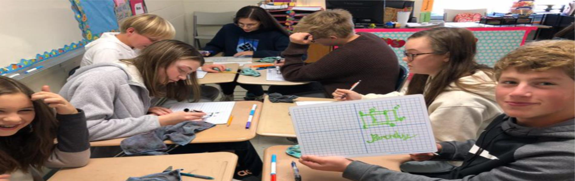 Students working in Math