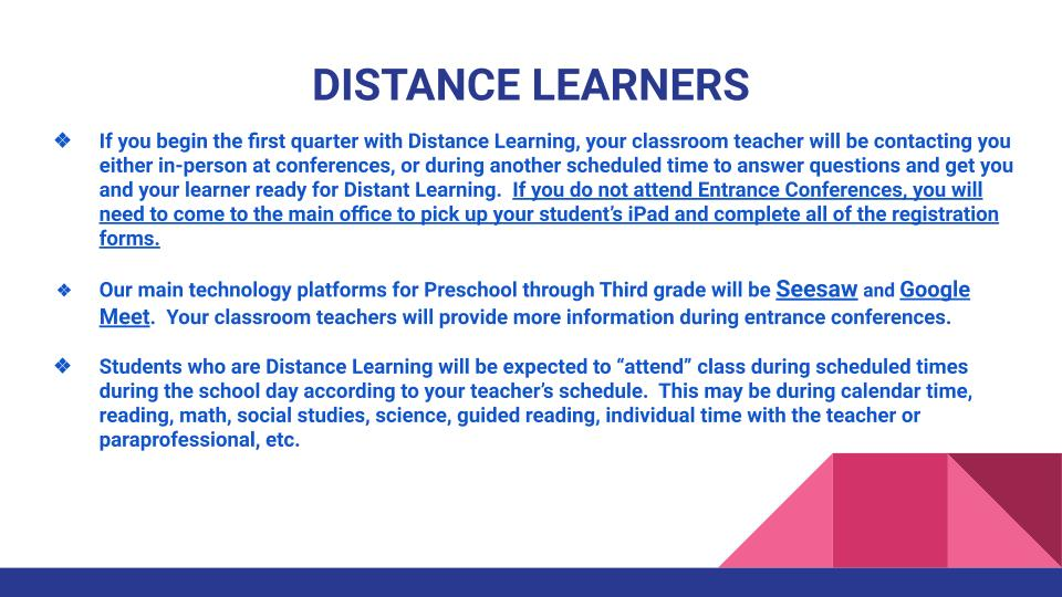 Distance Learners