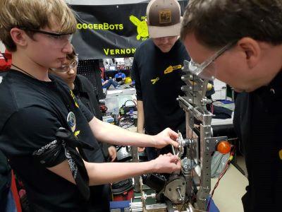 Robotics Students Hard at Work