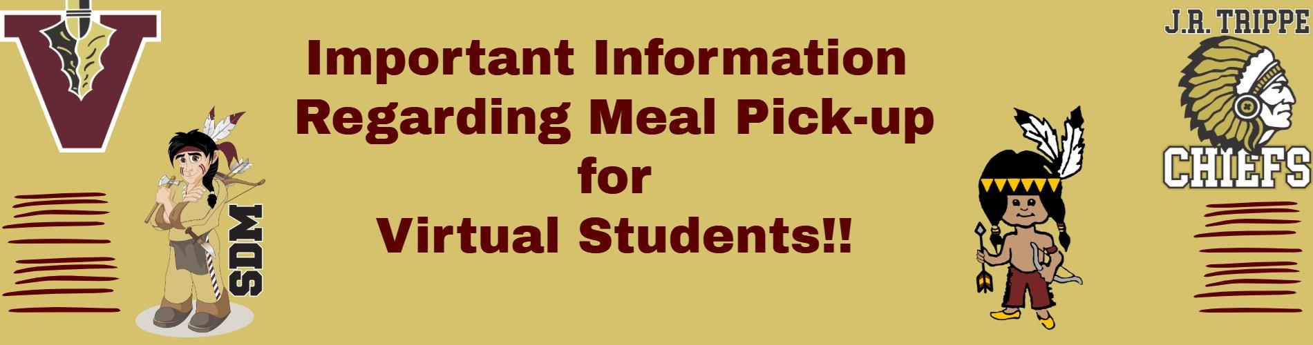Special Announcement Concerning Meal Pick-up