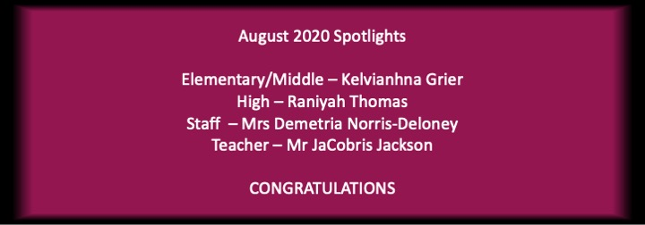 August 2020 School Spotlights