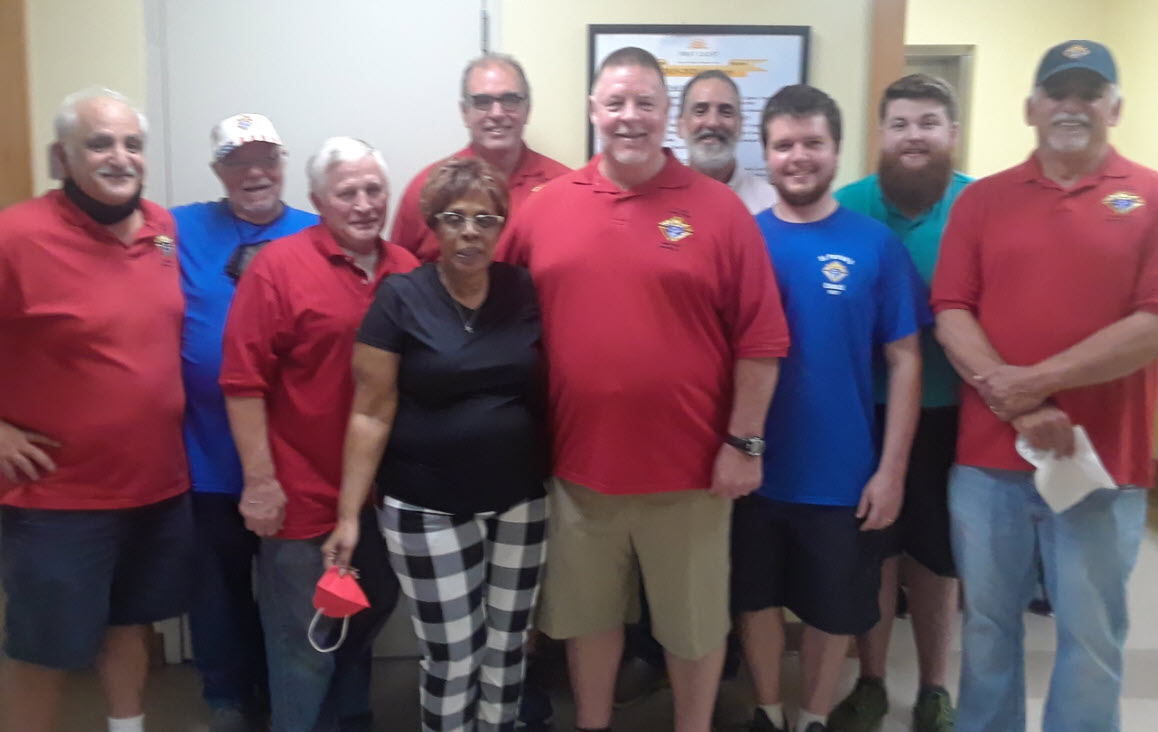 Council 10567 Knights at First Light with Weekend Manager Carmen Taylor