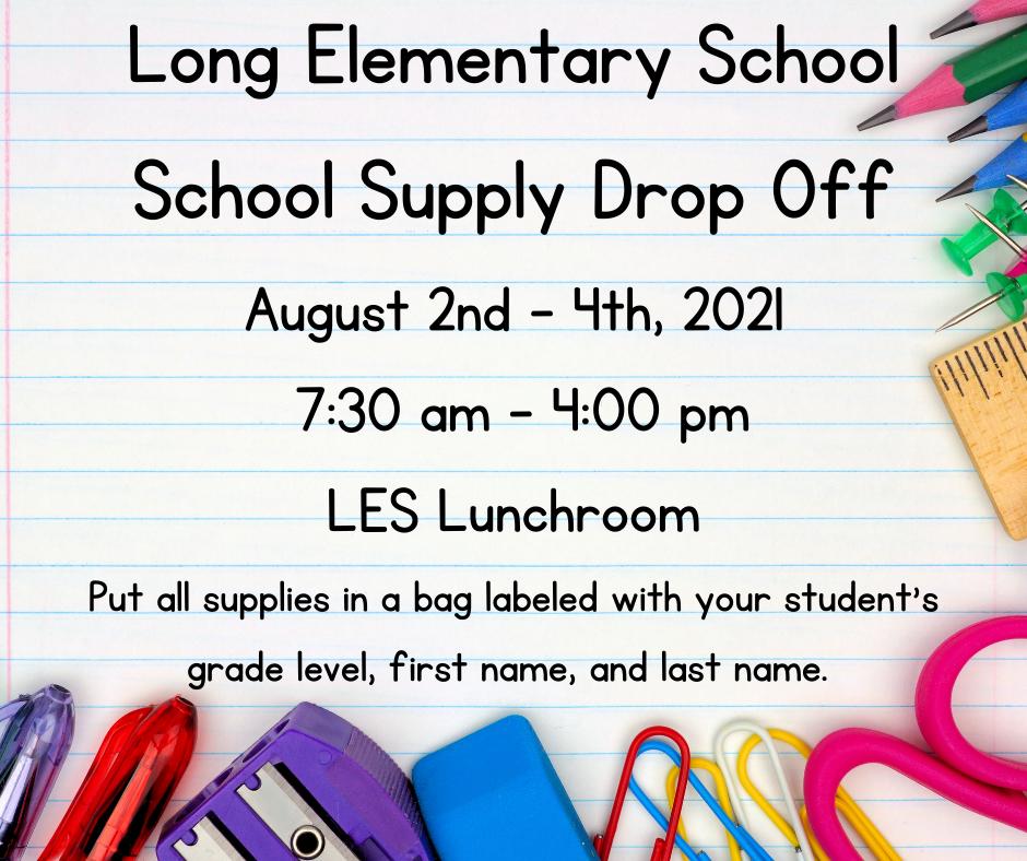School Supply Drop Off
