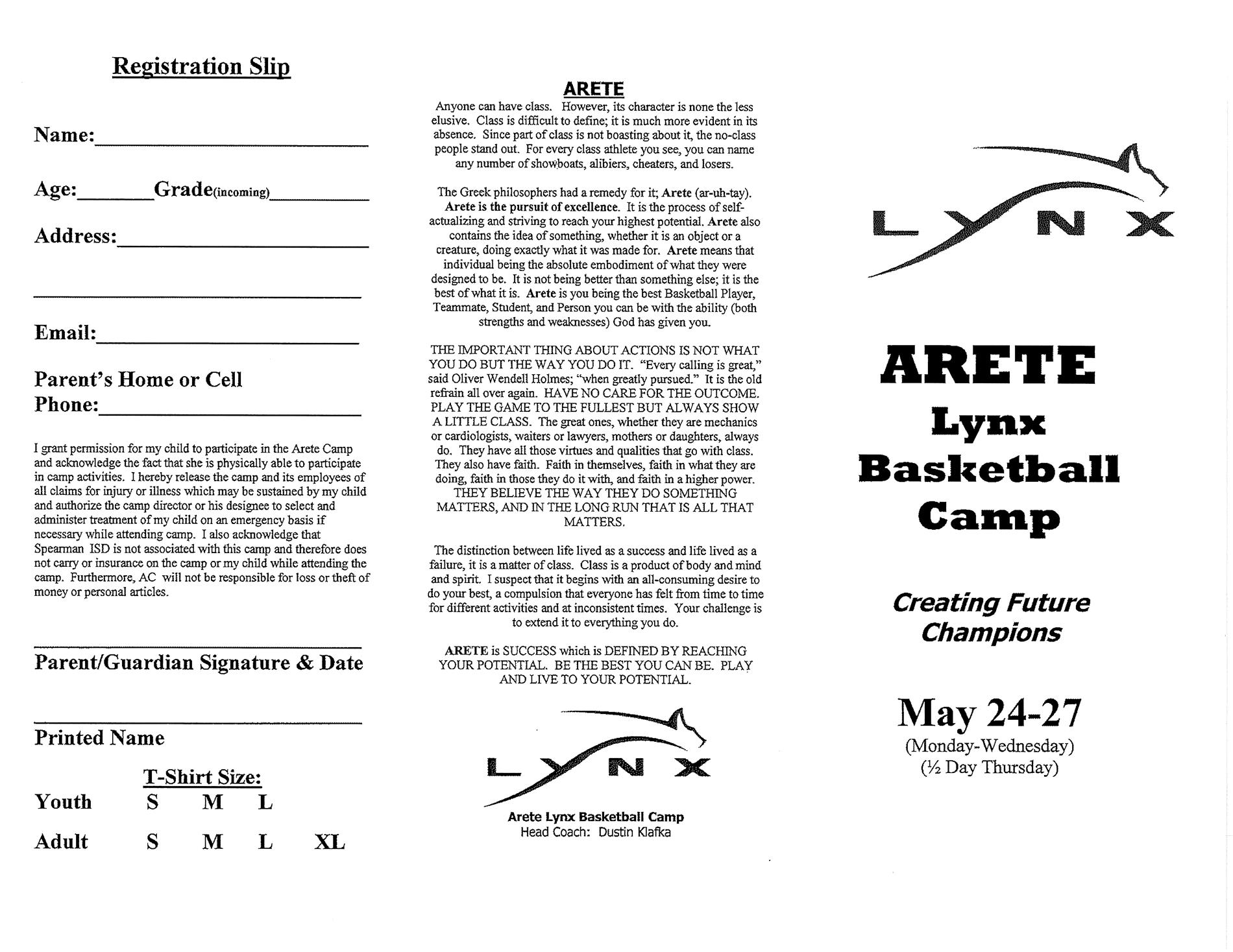 Camp info page 1