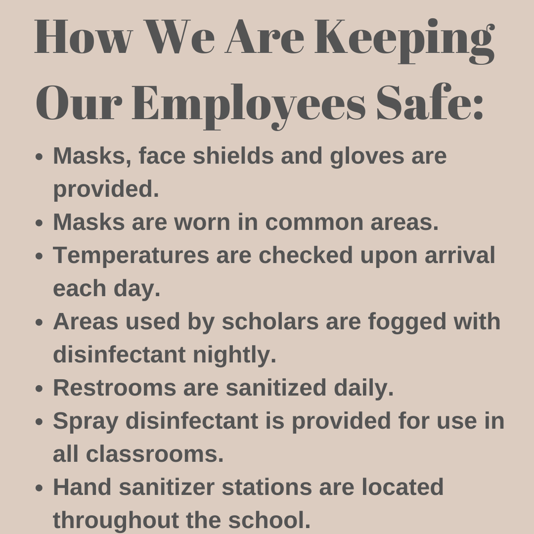 Keeping our employees safe.