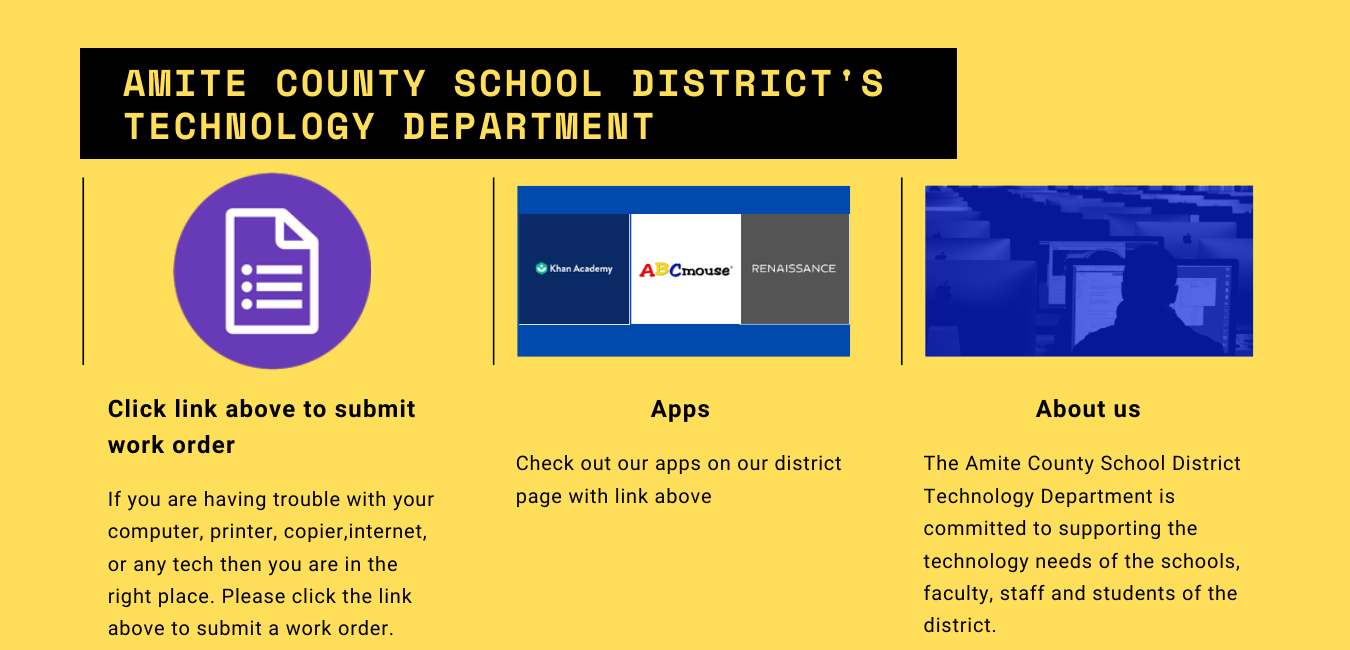 Welcome to ACSD Technology Page