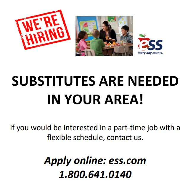 Subs needed flyer