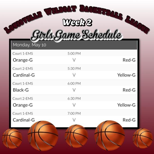 B Ball Schedule 6