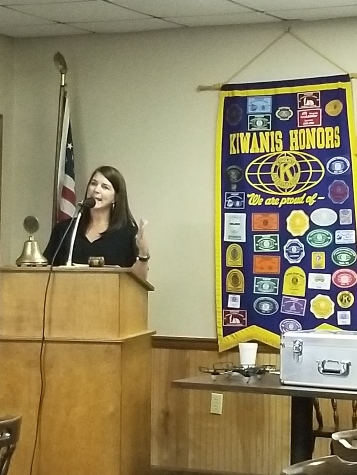 Amy Gillies Addresses Kiwanis Club