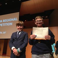 will brewer and carson mcgraw getting award for tech fair