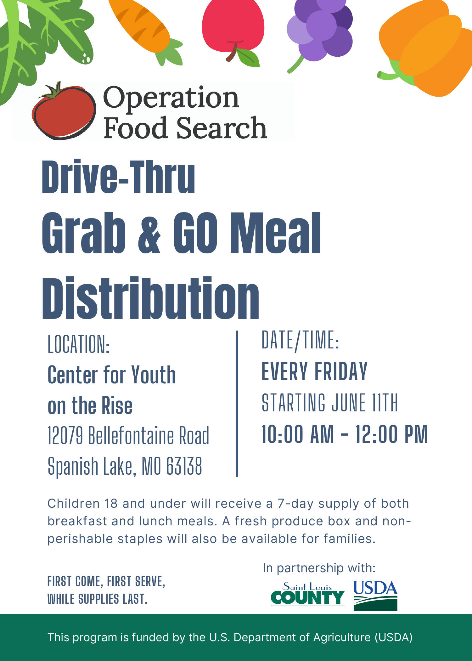 Center for Youth on the Rise Meal Distribution