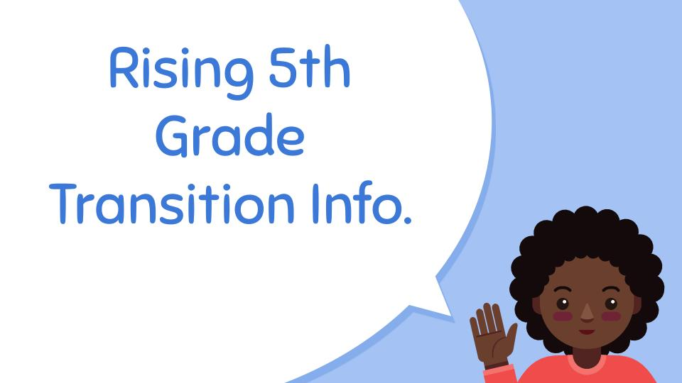Link to 5th grade transition information