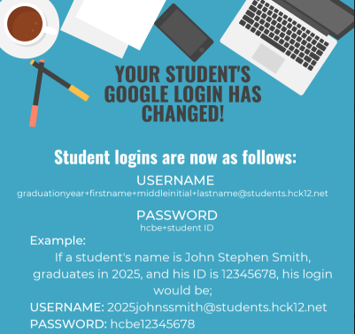 New Student Google Sign-in Instructions