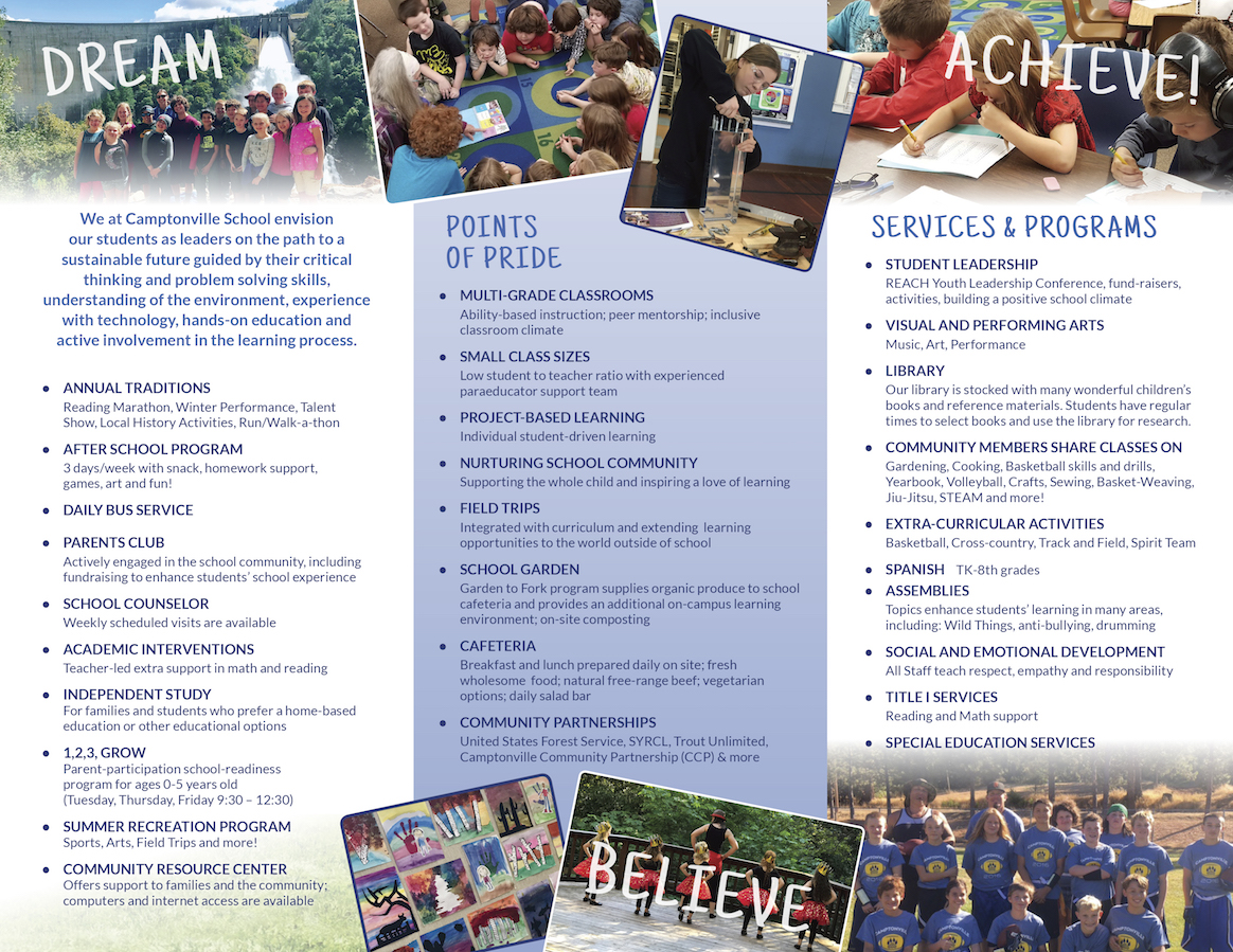 Campontville Brochures Dream, Achieve