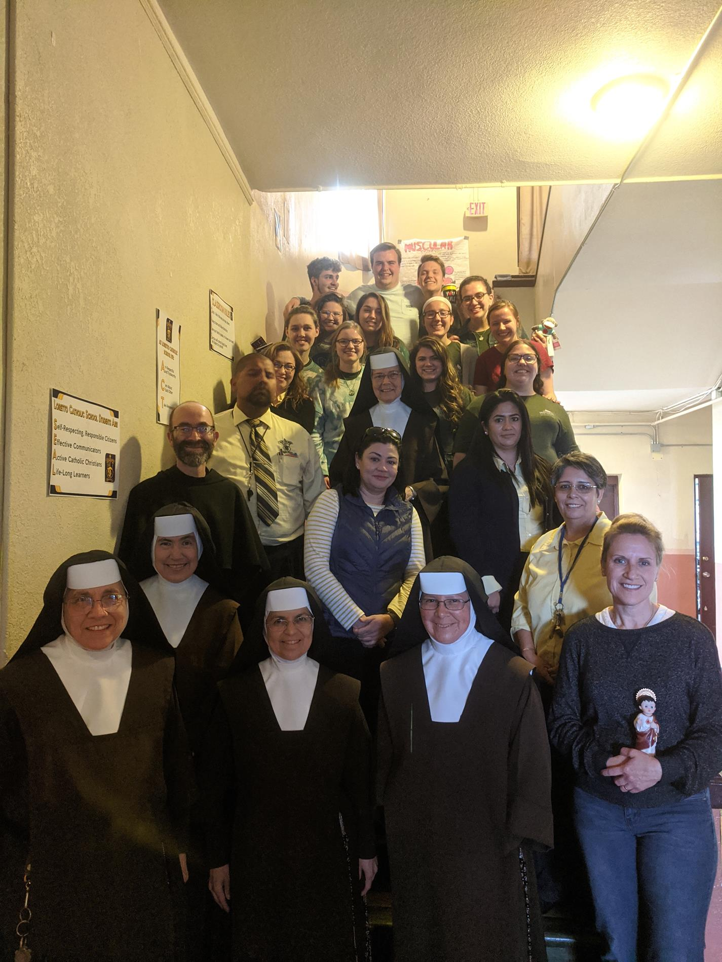 The Loretto School Staff with the Franciscan University of Steubenville Missionaries