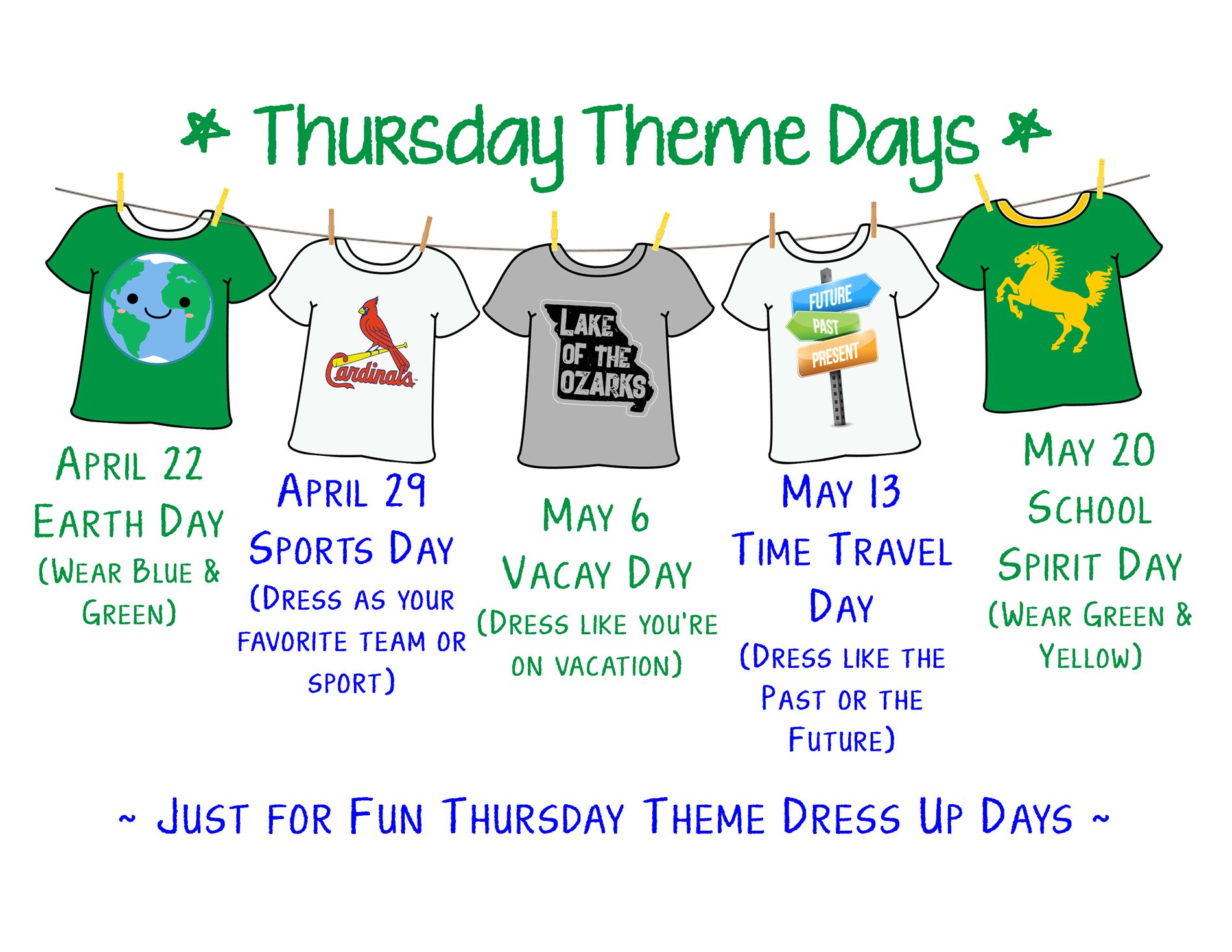 Thursday Theme Days