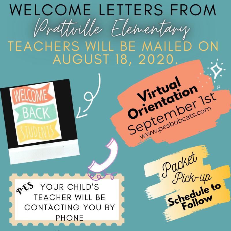 Teacher letters will go home on 08/18/2020 (virtual open house September 1, 2020)