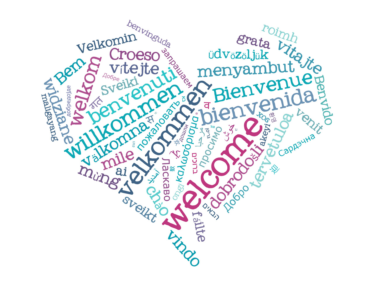 Welcome heart graphic