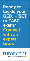 Ready to tackle your GED, HiSET or TASC? Connect with an expert tutor!