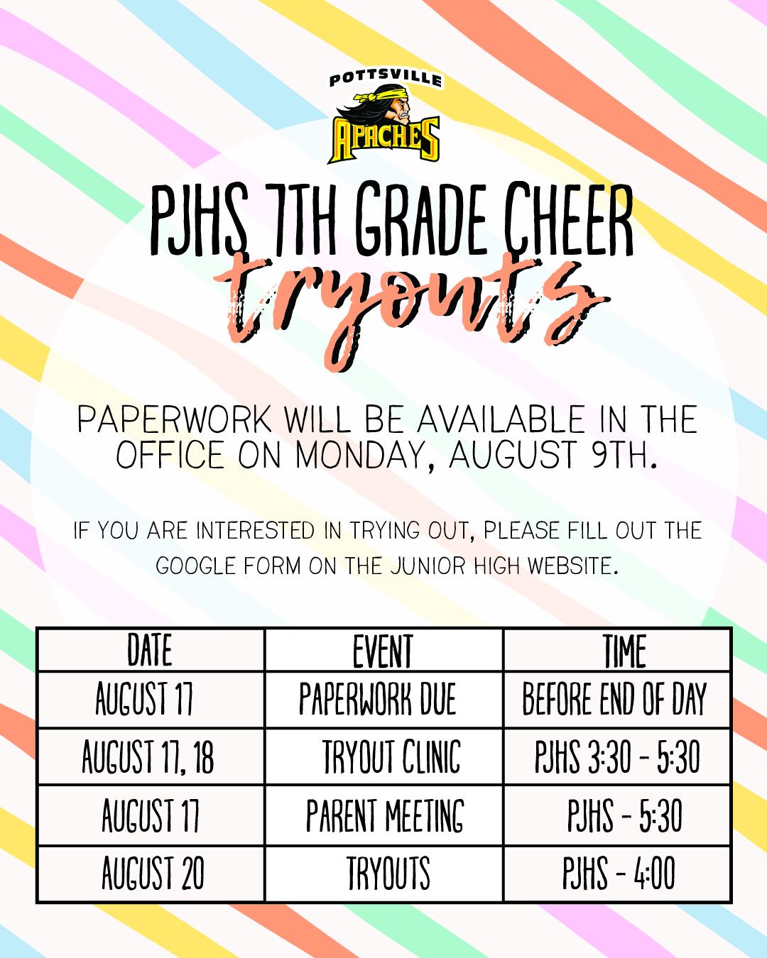 7th Grade Cheer Information