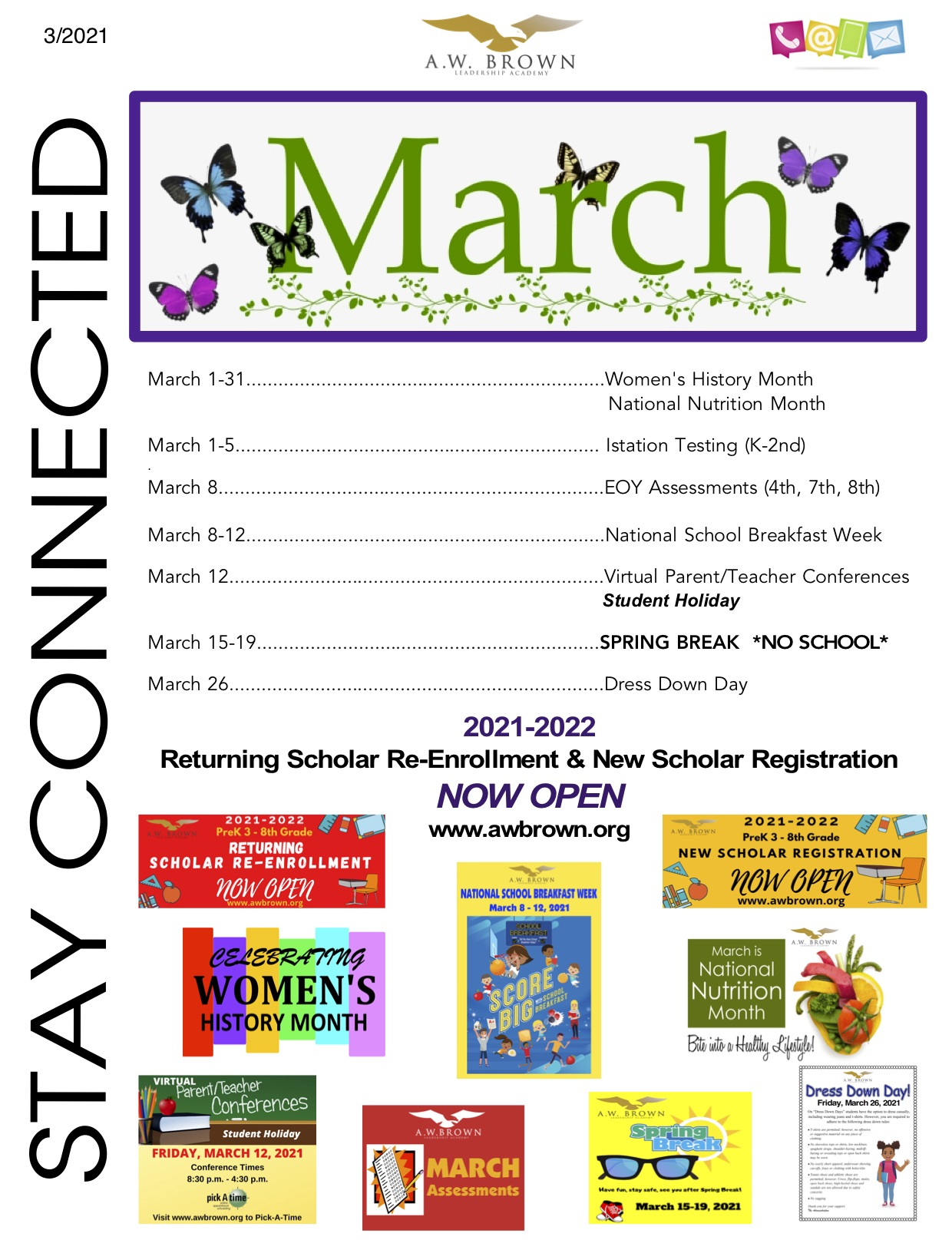 Stay Connected Newsletter - MARCH