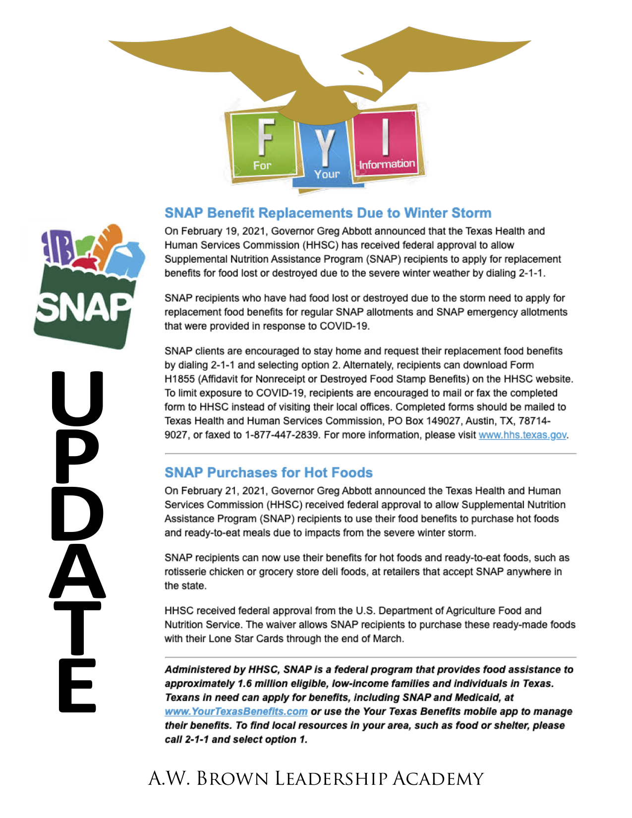 SNAP Benefit Updates