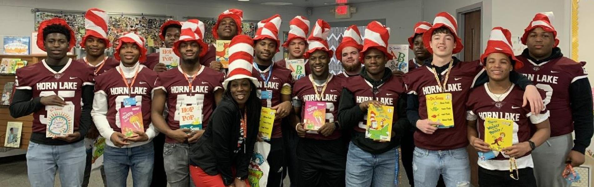 HLHS Football Supporting Read Across American