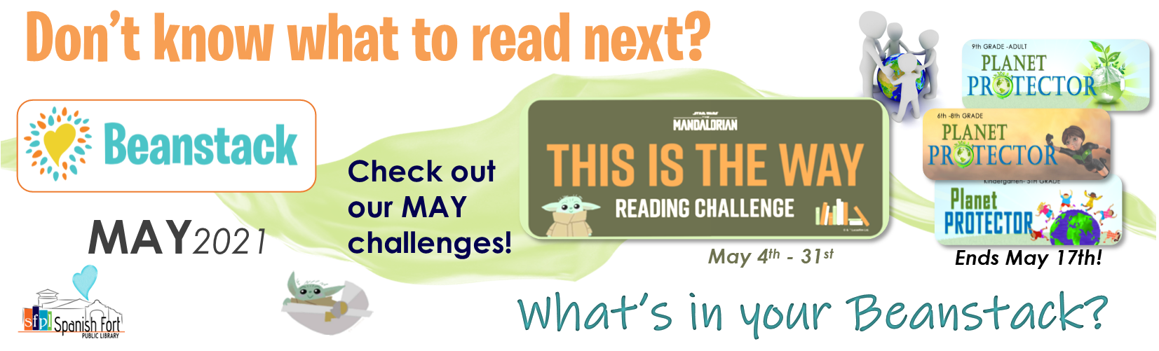 Click the image to check out the May Beanstack Challenges