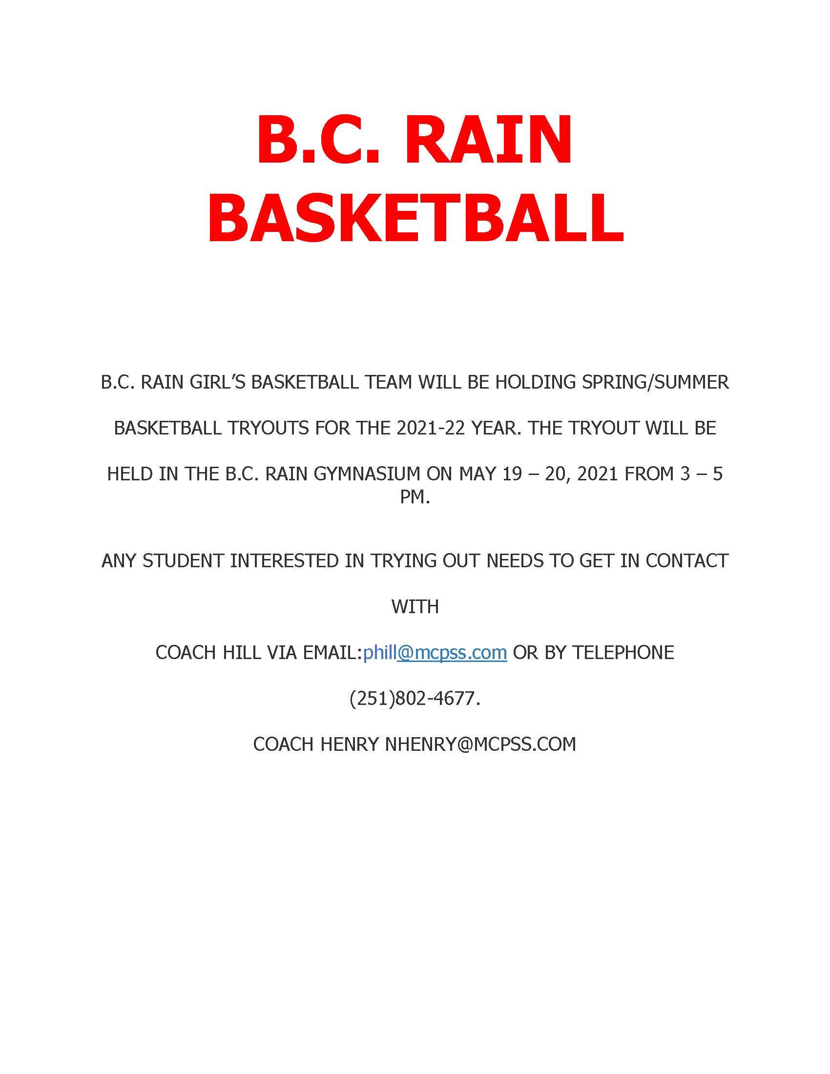 girl basketball tryouts
