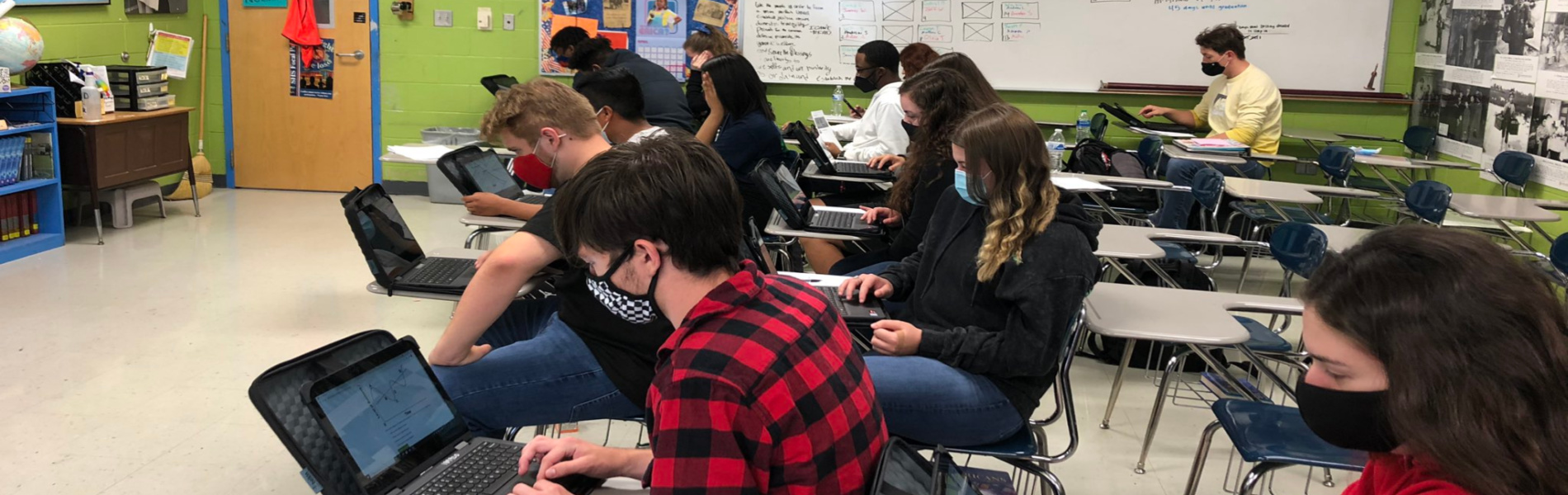 SHS AP Students Work on their Devices