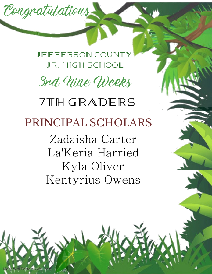 7th grade principal list