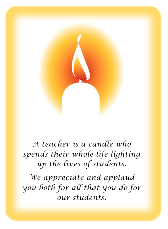 Teacher Are Candles