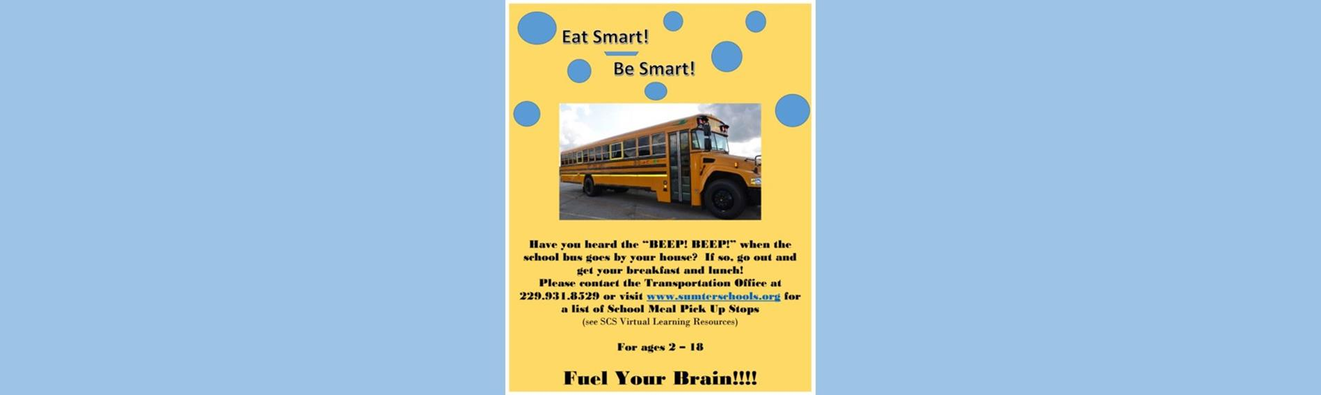 Nutrition Flyer with bus