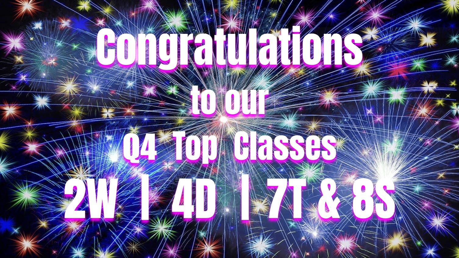 GCS Riding the Read-a-Coaster Q4 Top Classes
