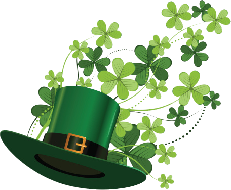 Shamrocks and hat