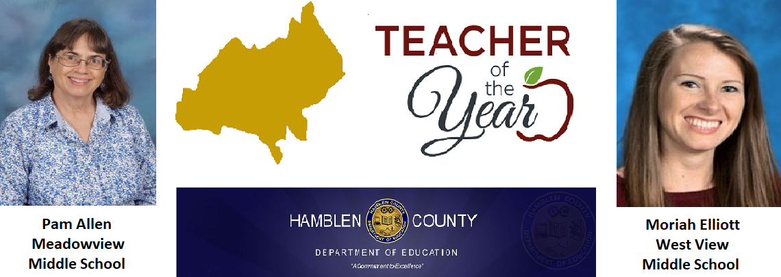 Pam Allen/Moriah Elliott Teacher of the year