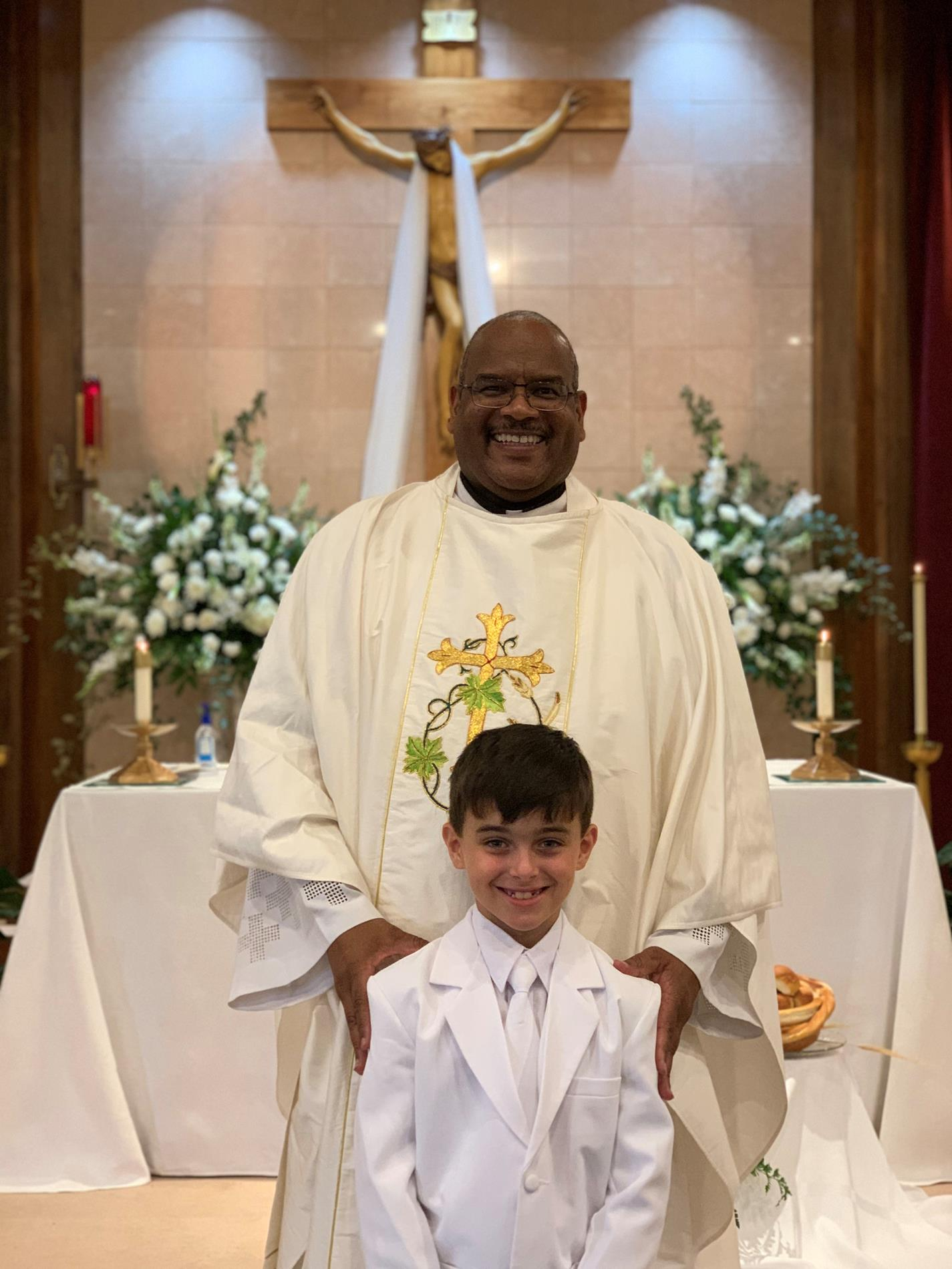 Fr. Vernon and young man
