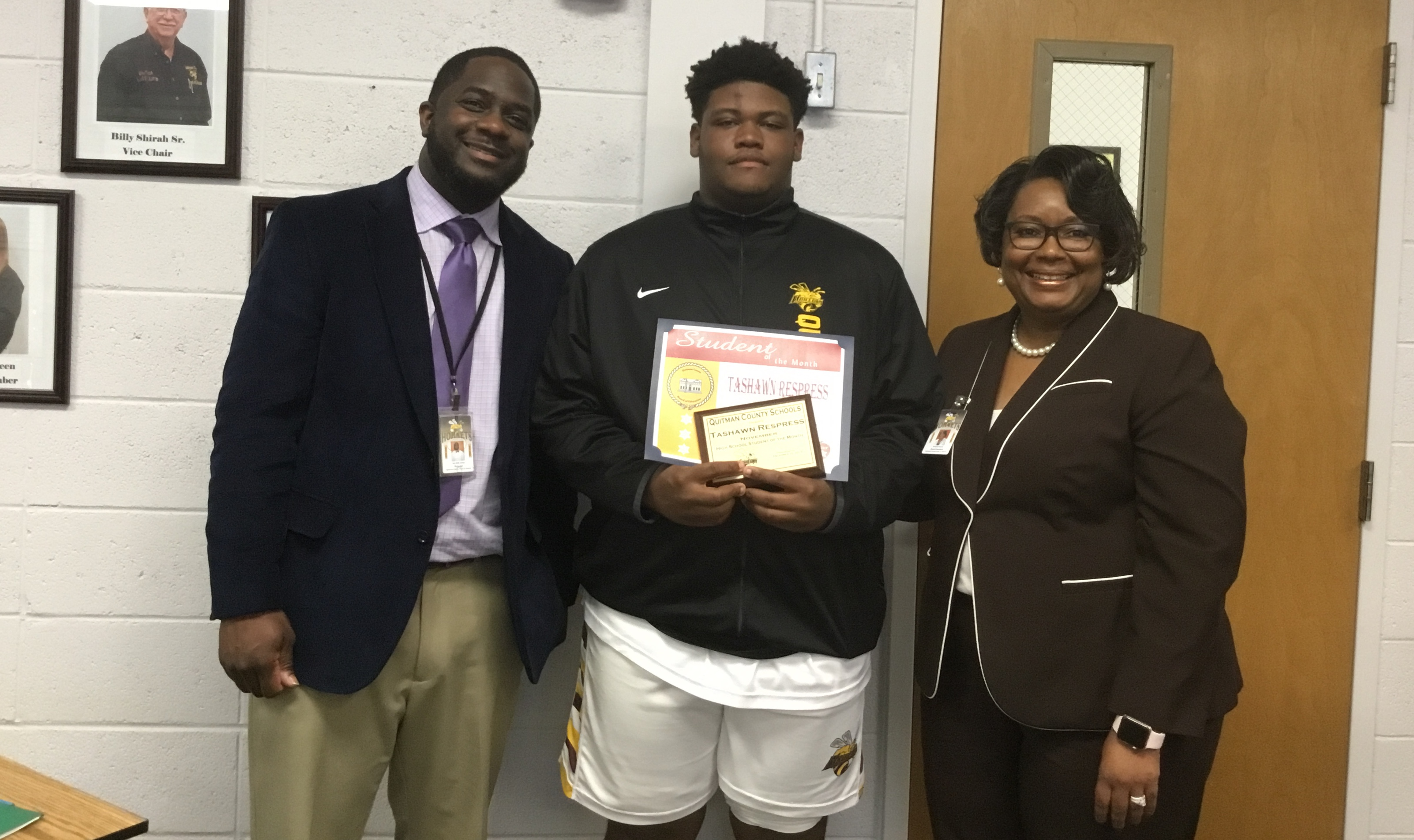December Board Meeting - November 2019 HS Student of the Month - Tashawn Respress