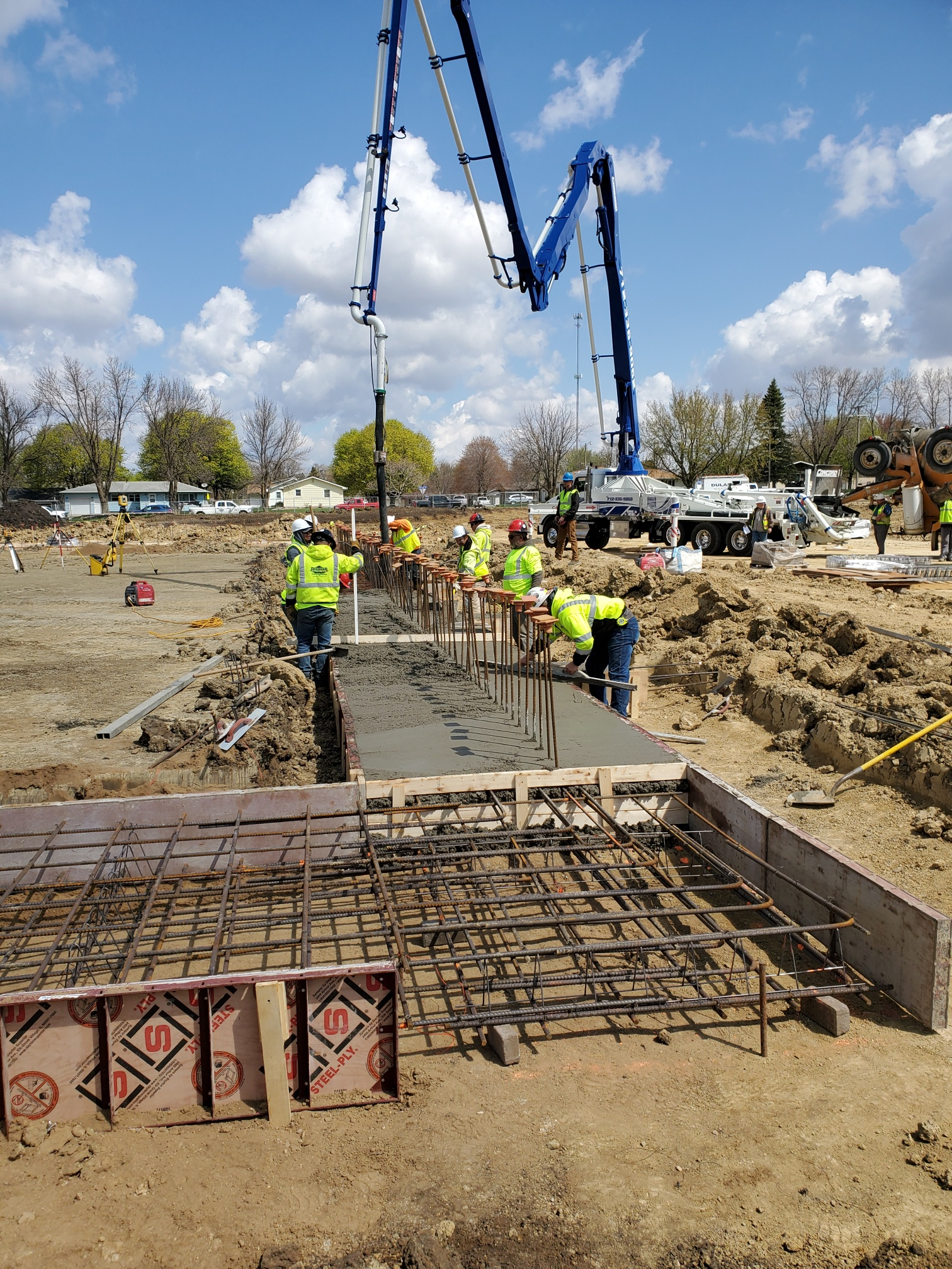Footings poured for inner gym