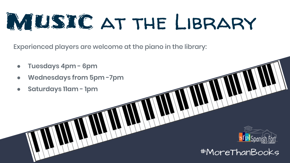 Public Piano available times at the library