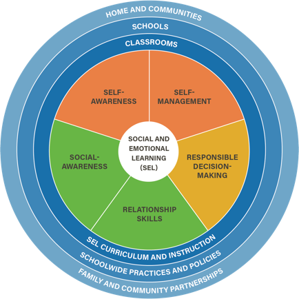 Social emotional competency wheel diagram