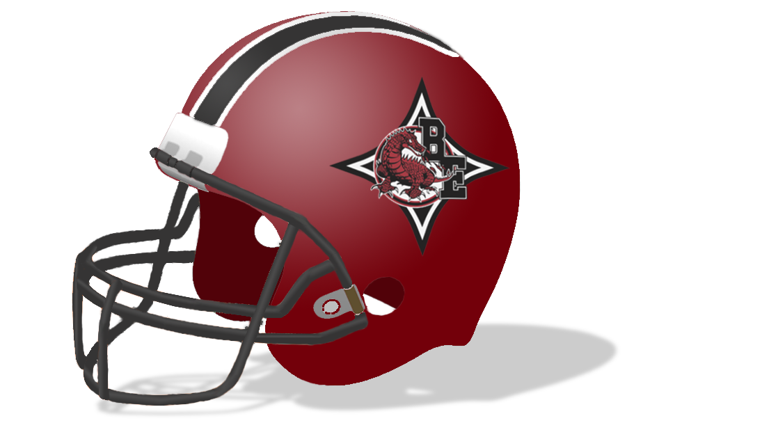 BEHS Football Helmet with Shadow