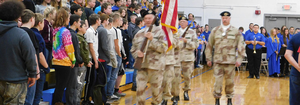 end of Veteran's assembly