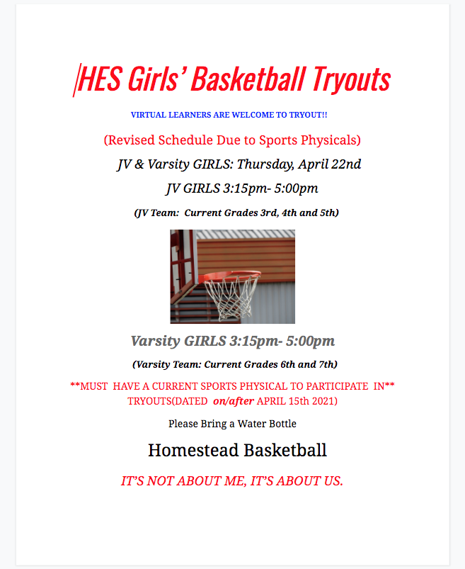 girls tryouts