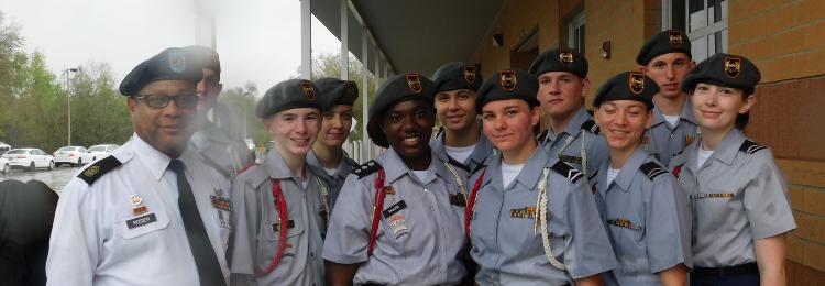 ROTC cadets and Instructors
